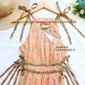 ANTHROPOLOGIE Floral Maxi Dress Peach M